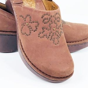 Ariat Size 8.5 Women Suede Leather Brown Mules